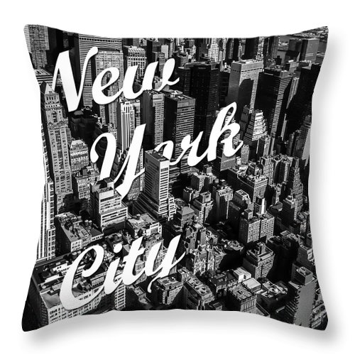 New York Throw Pillow featuring the photograph New York City by Nicklas Gustafsson