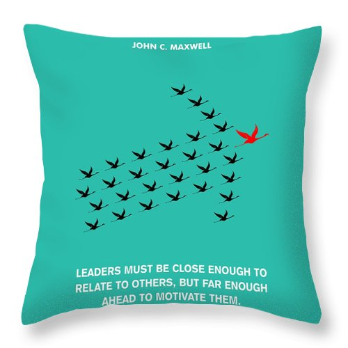 Leaders Motivation John Maxwell Quotes Poster Throw Pillow For Sale