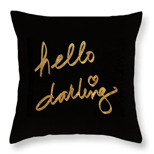 Darling Throw Pillow featuring the painting Darling Bella I by South Social Studio