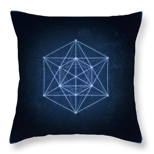 Minimal Throw Pillow featuring the digital art Sacred Geometry Minimal Hipster Symbol Art by Philipp Rietz