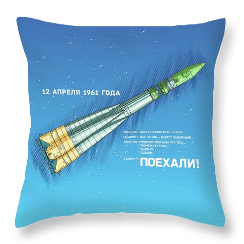 Space Throw Pillow featuring the digital art R7 by Alexander Anisenkov