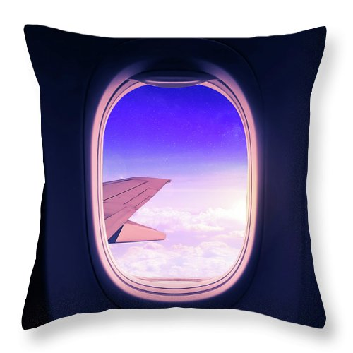 Travel Throw Pillow featuring the mixed media Travel the World by Nicklas Gustafsson