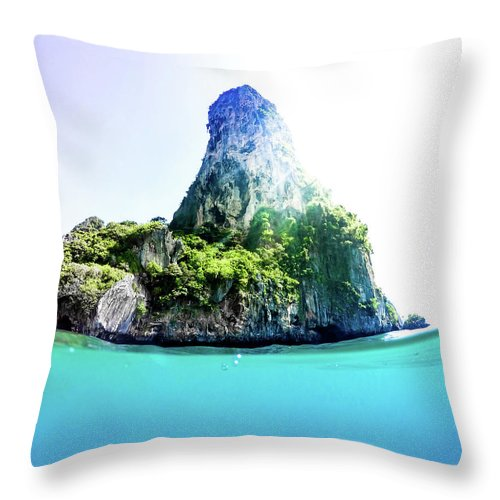 Nature Throw Pillow featuring the photograph Tropical Island by Nicklas Gustafsson