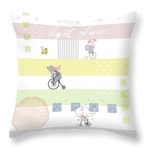 Children Throw Pillow featuring the digital art Light Of Mine by Claire Tingen