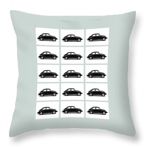 Volkswagen Beetle Throw Pillow featuring the photograph Vw Theory Of Evolution by Mark Rogan