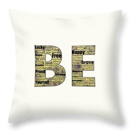 Malakhova Throw Pillow featuring the digital art Be Inspired by Anastasiya Malakhova