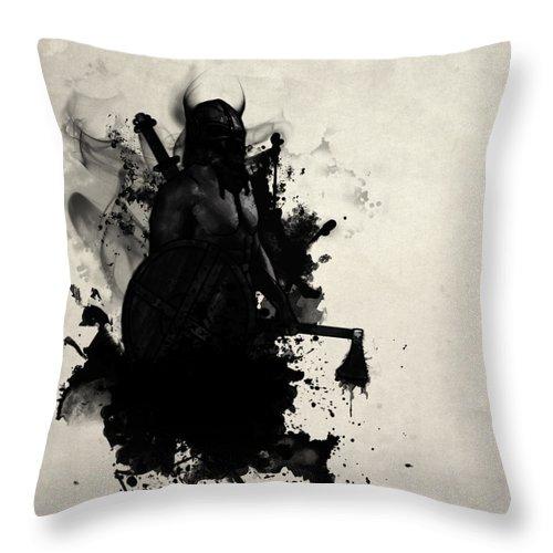 Viking Throw Pillow featuring the digital art Viking by Nicklas Gustafsson