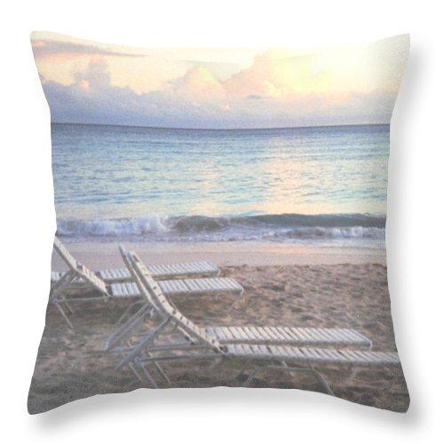 Aruba Throw Pillow featuring the photograph Aruba Beach by Ian MacDonald