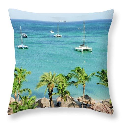 Aruba Throw Pillow featuring the photograph Aruba Shore by Michael Clubb