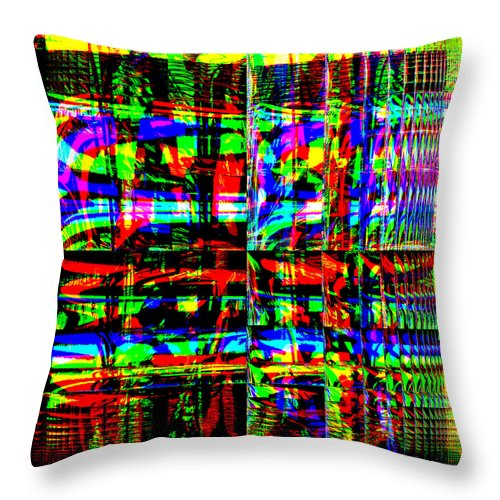 Red Throw Pillow featuring the digital art Arwoe by Blind Ape Art