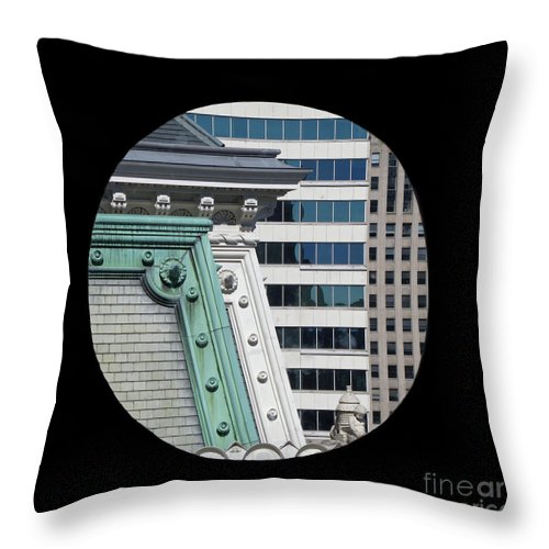 Philadelphia Throw Pillow featuring the photograph As A Bird Sees Philly by Ann Horn