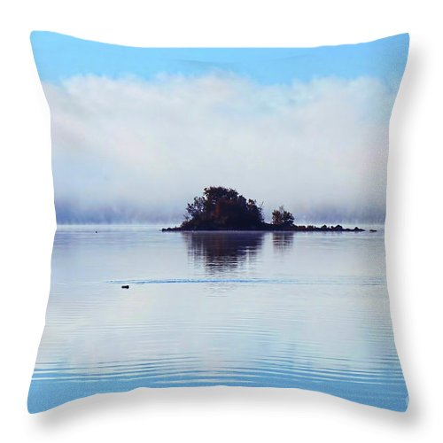 Photography Throw Pillow featuring the photograph As The Fog Clears by Cathy Beharriell