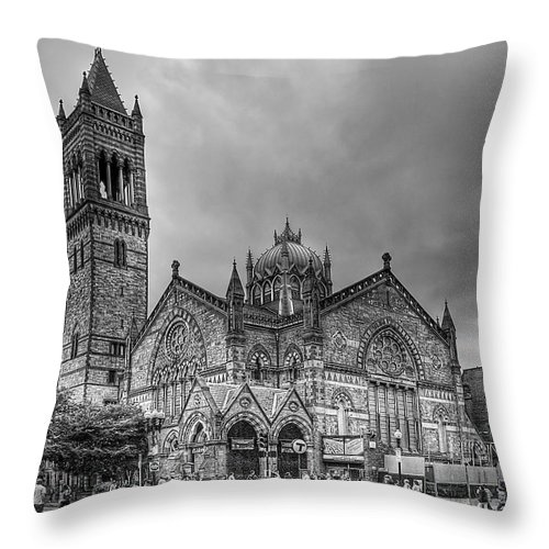 Boston Throw Pillow featuring the photograph As The World Passes By... by Evelina Kremsdorf