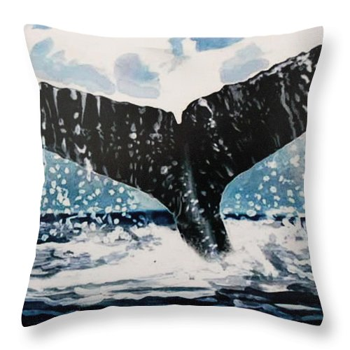 Ocean Throw Pillow featuring the painting Ascend by Elizabeth Robinette Tyndall