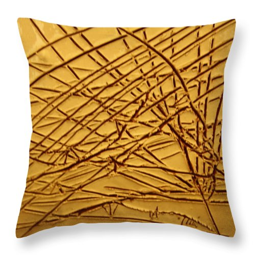 Jesus Throw Pillow featuring the ceramic art Ascending - Tile by Gloria Ssali