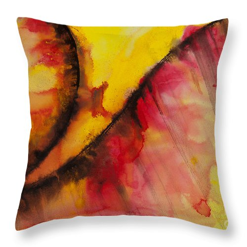 Ilisa Millermoon Throw Pillow featuring the painting Ascending No. 2019 by Ilisa Millermoon