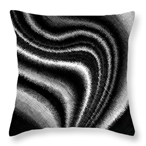 Black & White Throw Pillow featuring the digital art Ascending by Will Borden