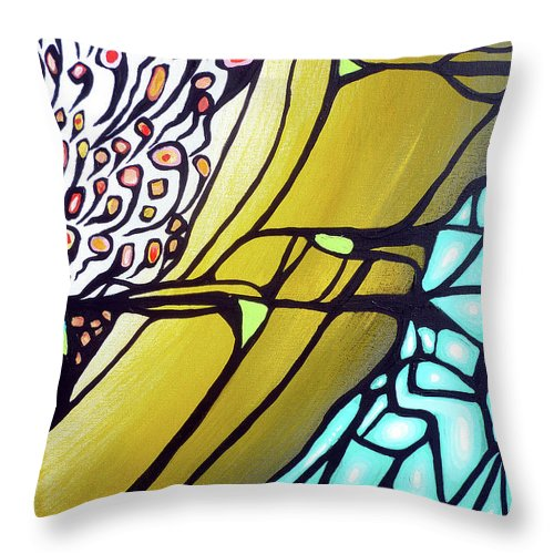 Color Throw Pillow featuring the painting Ascension by Larry Calabrese