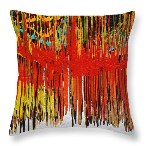 Fusionart Throw Pillow featuring the painting Ascension by Ralph White
