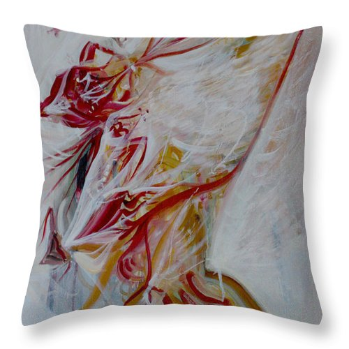 Ascent Throw Pillow featuring the painting Ascent by Alexander Carletti