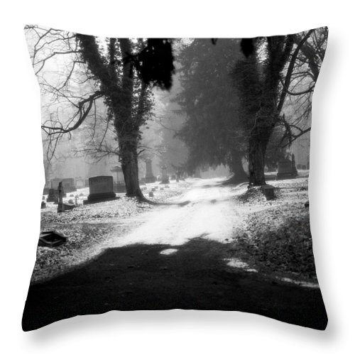 Photograph Throw Pillow featuring the photograph Ashland Cemetery by Jean Macaluso