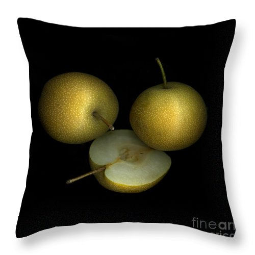 Culinary Throw Pillow featuring the photograph Asian Pears by Christian Slanec