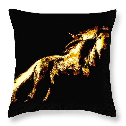 Horse Throw Pillow featuring the photograph Asian Stallion by Terry Fiala