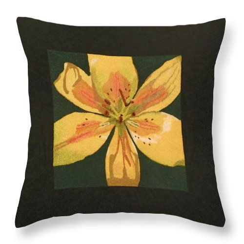 Nature Throw Pillow featuring the mixed media Asiatic Lily by Jenny Williams