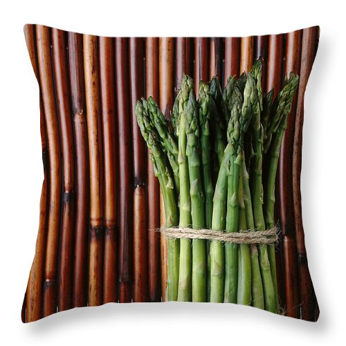 Asparagus Throw Pillow featuring the photograph Asparagus by Jessica Wakefield