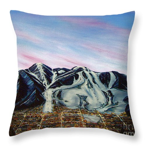 Aspen Throw Pillow featuring the painting Aspen by Jerome Stumphauzer