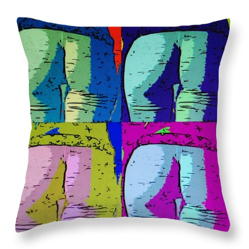Ass Throw Pillow featuring the photograph Ass Colors by Rob Hans