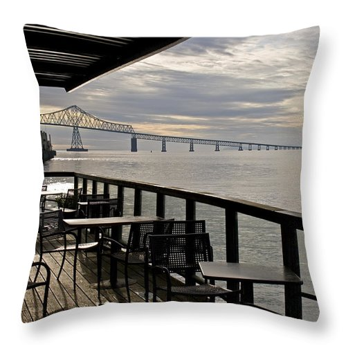 Scenic Throw Pillow featuring the photograph Astoria by Lee Santa