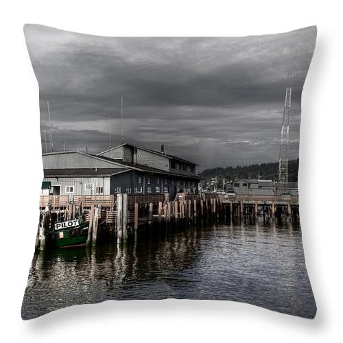 Scenic Throw Pillow featuring the photograph Astoria Waterfront 2 by Lee Santa
