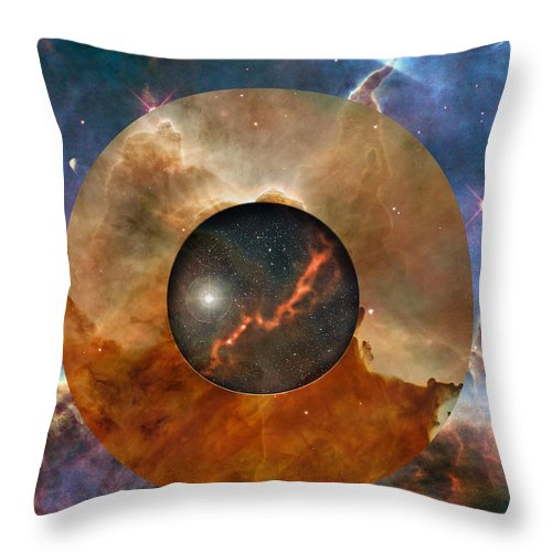 astral Abstraction Throw Pillow featuring the digital art Astral Abstraction I by Kenneth Rougeau