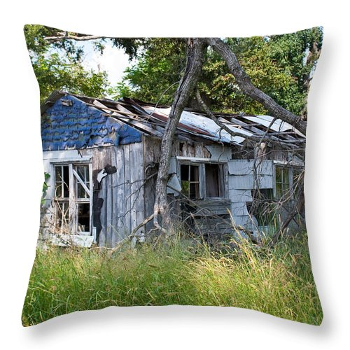 Asure Throw Pillow featuring the photograph Asure Shack by Douglas Barnett