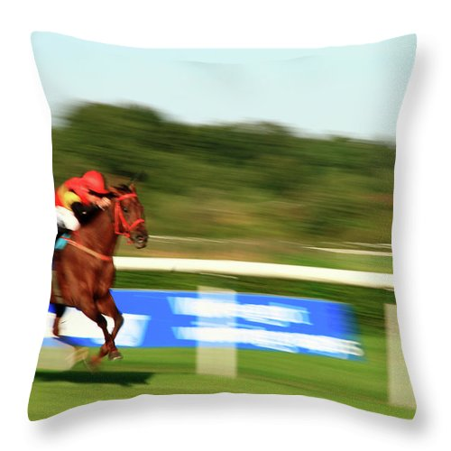 Gerlya Sunshine Throw Pillow featuring the photograph At A Breakneck Speed by Gerlya Sunshine