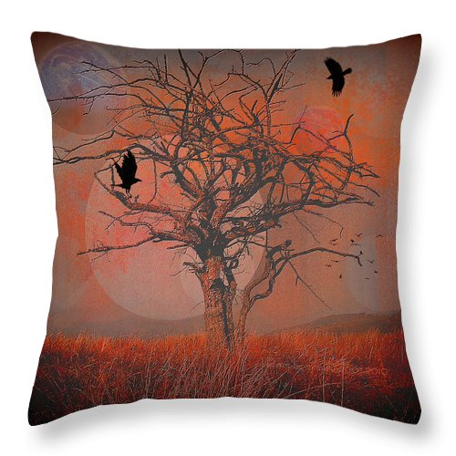 Dusk Throw Pillow featuring the digital art at Dusk by Mimulux patricia No