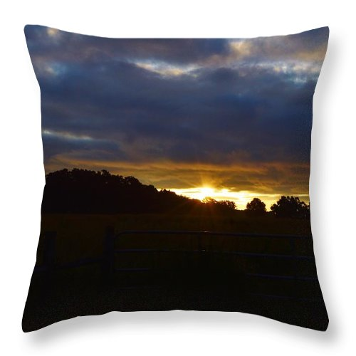 At First Light Throw Pillow featuring the photograph At First Light by Warren Thompson