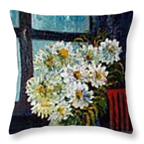 By The Window Throw Pillow featuring the painting At Home by Carol P Kingsley