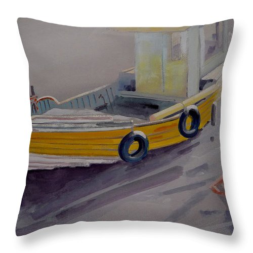 Seascape Throw Pillow featuring the painting At Low Tide by Charles Stuart