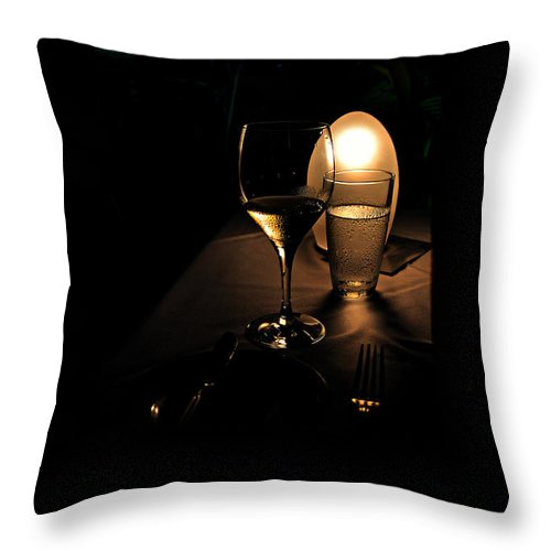 Dark Throw Pillow featuring the photograph At Nautilus by Andrei SKY