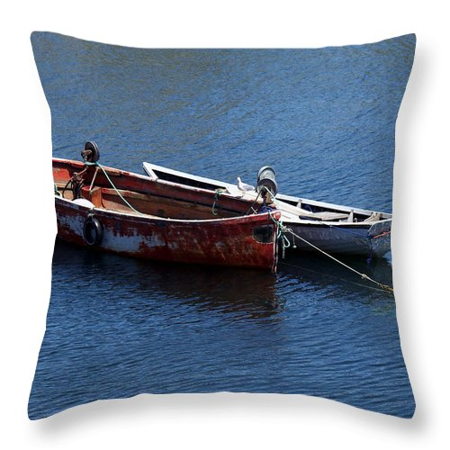Boats Throw Pillow featuring the photograph At Rest by Kelvin Booker
