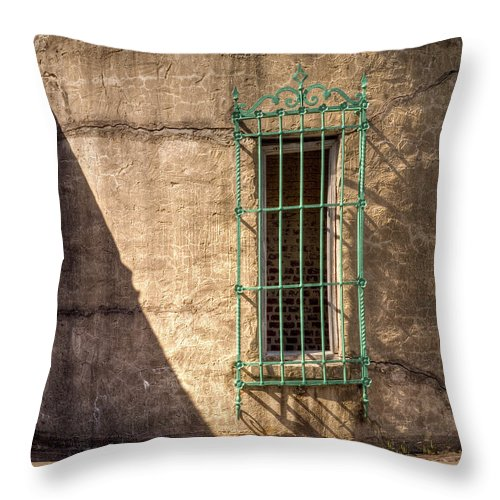 Murrells Inlet Throw Pillow featuring the photograph Atalaya Shadow by Bill McCormick