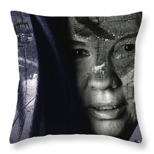 Athabascan Throw Pillow featuring the photograph Athabascan Landscape by Perri Kelly
