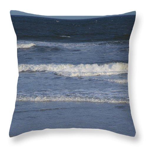 Atlantic Throw Pillow featuring the photograph Atlantic Ocean Gradient by Teresa Mucha