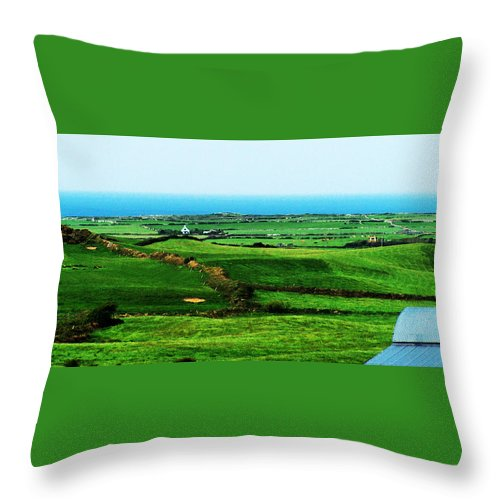 Ireland Throw Pillow featuring the photograph Atlantic View Doolin Ireland by Teresa Mucha