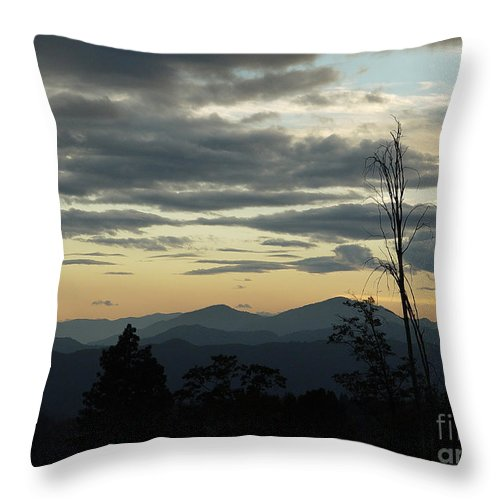 Atmospheric Throw Pillow featuring the photograph Atmospheric Perspective by Peter Piatt