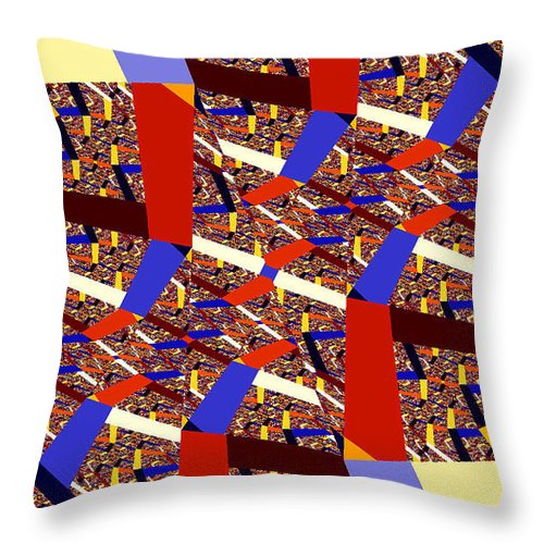 Clay Throw Pillow featuring the digital art Atomic Link by Clayton Bruster
