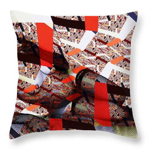 Clay Throw Pillow featuring the photograph Atomic Link Pinup by Clayton Bruster