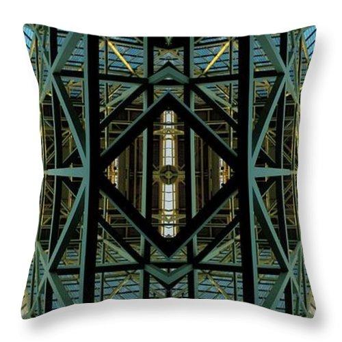 Abstract Throw Pillow featuring the photograph Atrium by Rachel Dunn